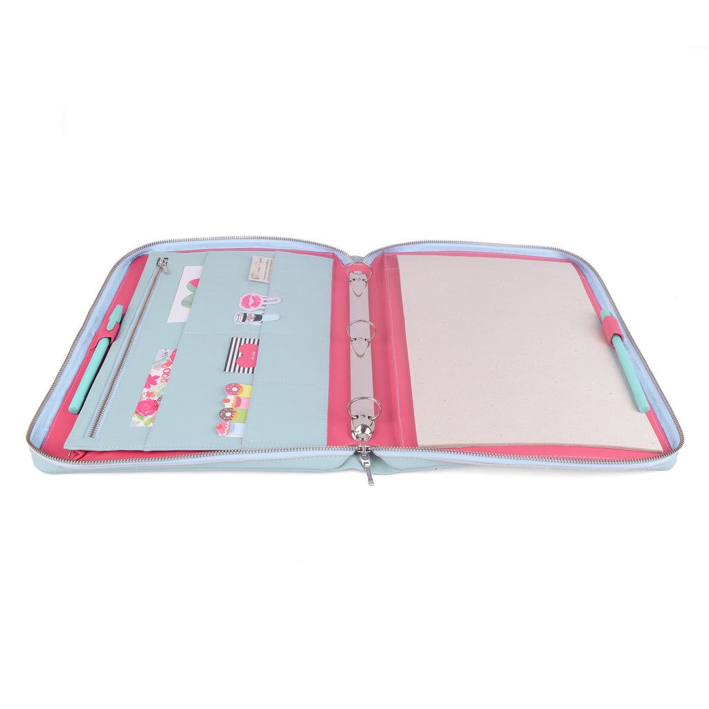 ORIGINAL- Zippered A4 Leather Ring Binder Organizer