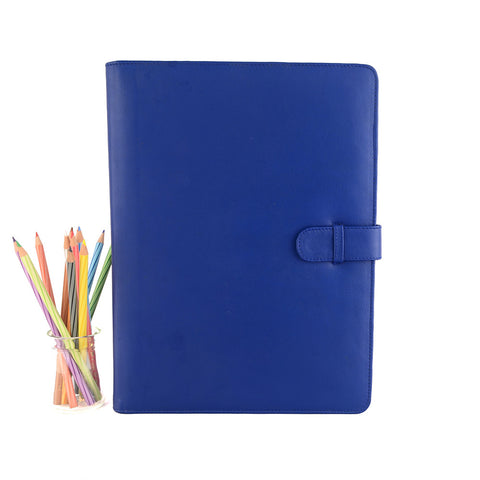 Blue A4 Leather PadFolio by CocoaPaper