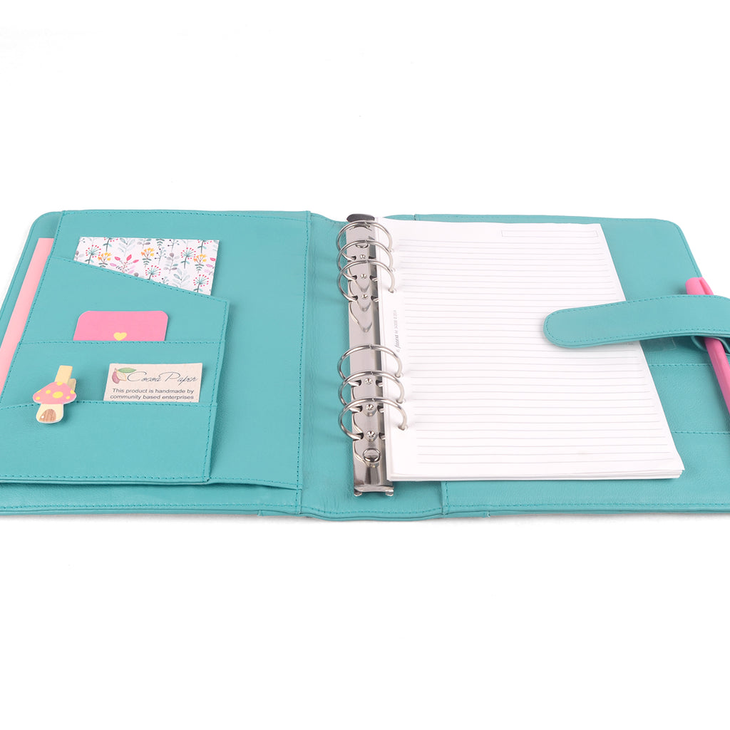JESS- A5 Leather Ring Binder Planner