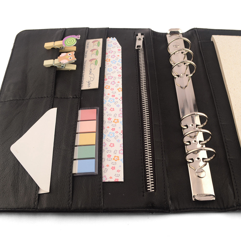photo relating to A5 Planner Binder called Practice- A5 Leather-based Ring Binder Planner