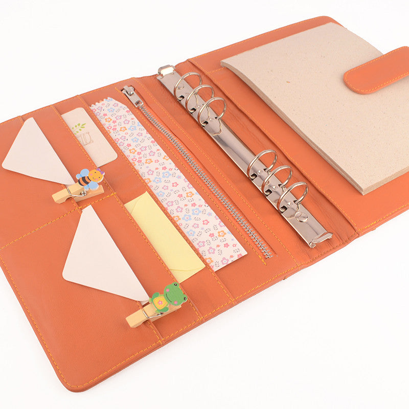 Orange A5 COACH Leather Ring Binder Planner by CocoaPaper