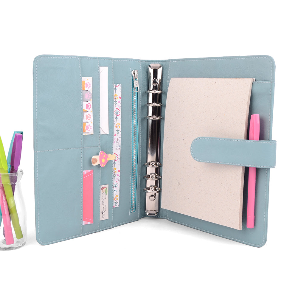 image about Planner Binders referred to as Teach- A5 Leather-based Ring Binder Planner