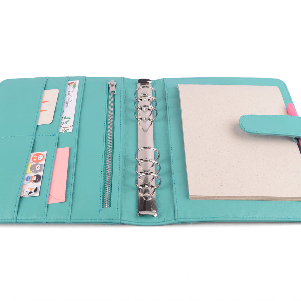 COACH- A5 Leather Ring Binder Planner