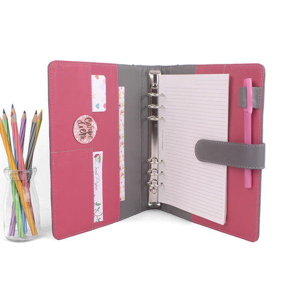 CREW- A5 Leather Ring Binder Planner