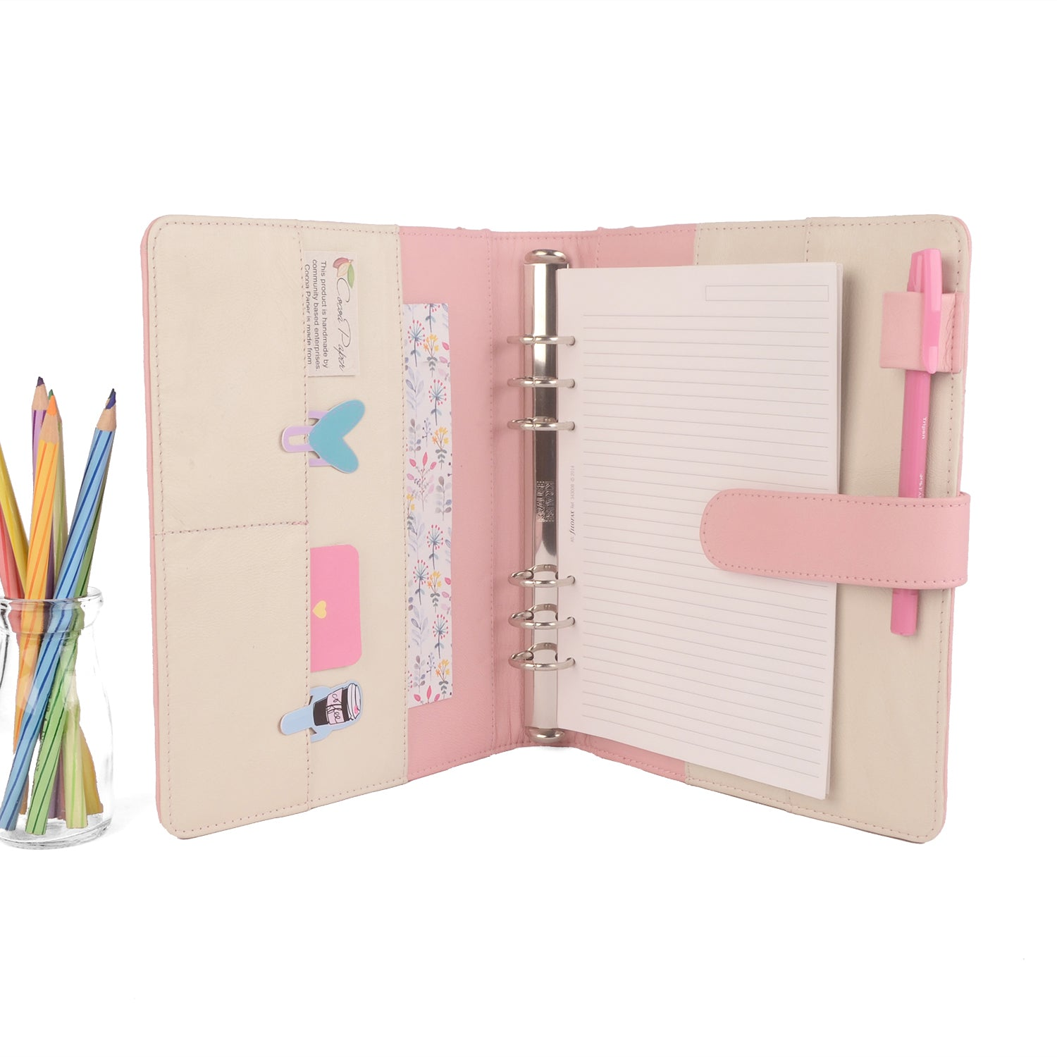 graphic regarding Planner Binders known as Staff- A5 Leather-based Ring Binder Planner