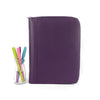 DAWN- Zippered A5 Leather Ring Binder Planner