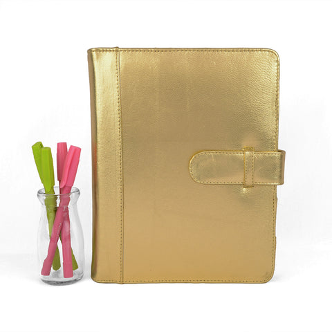 GOLD- Leather Planners, Binders & PadFolios.