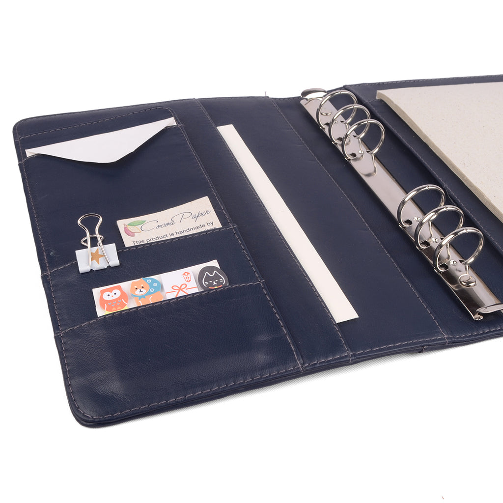 CLASSIC- A5 Leather Ring Binder Planner