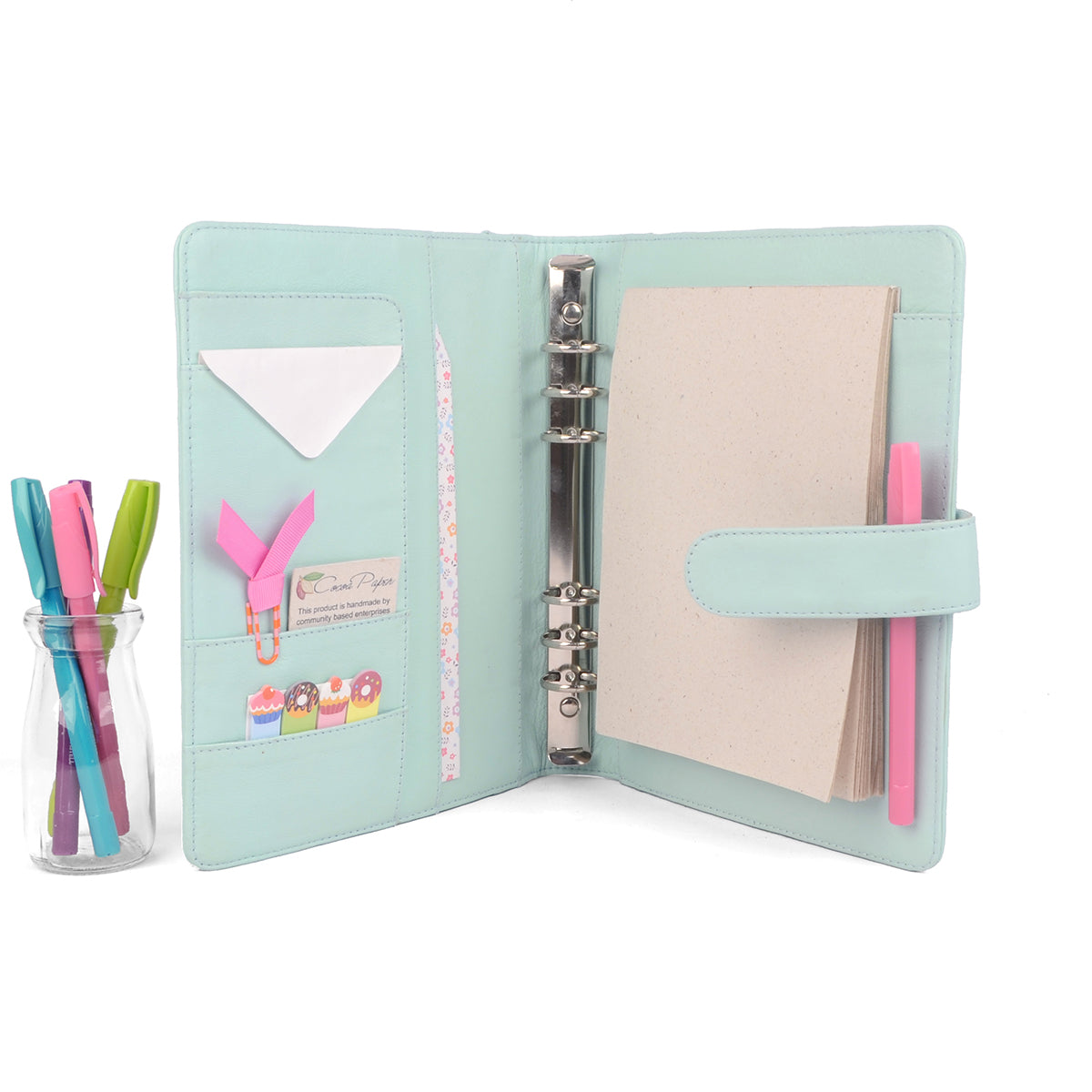 picture about Planner Binders known as Conventional- A5 Leather-based Ring Binder Planner