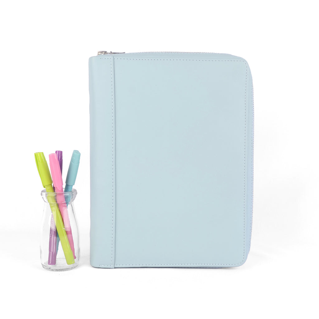 CLASSIC- Zippered A5 Leather Ring Binder Planner