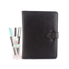 Black A5 Leather PadFolio by CocoaPaper