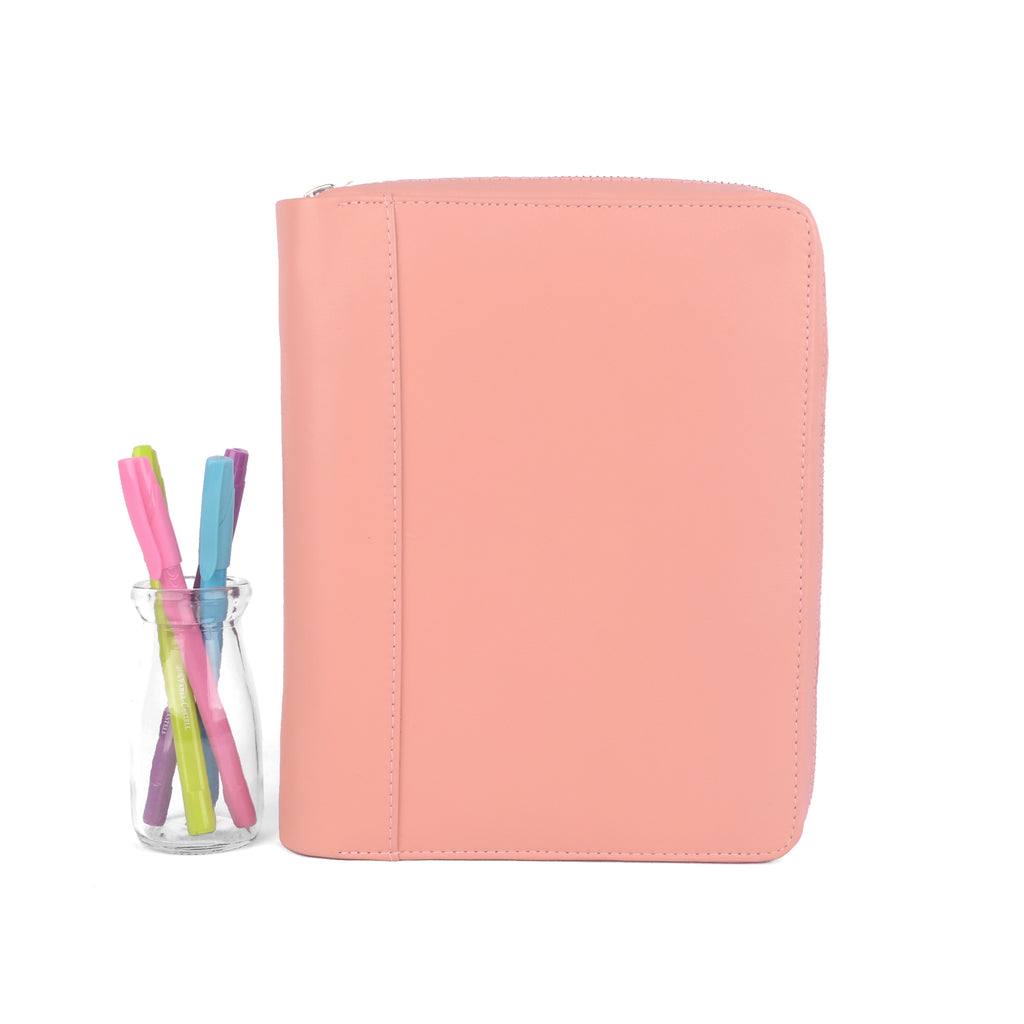 BELLA- Zippered A5 Planner Cover for Coil Bound Planners