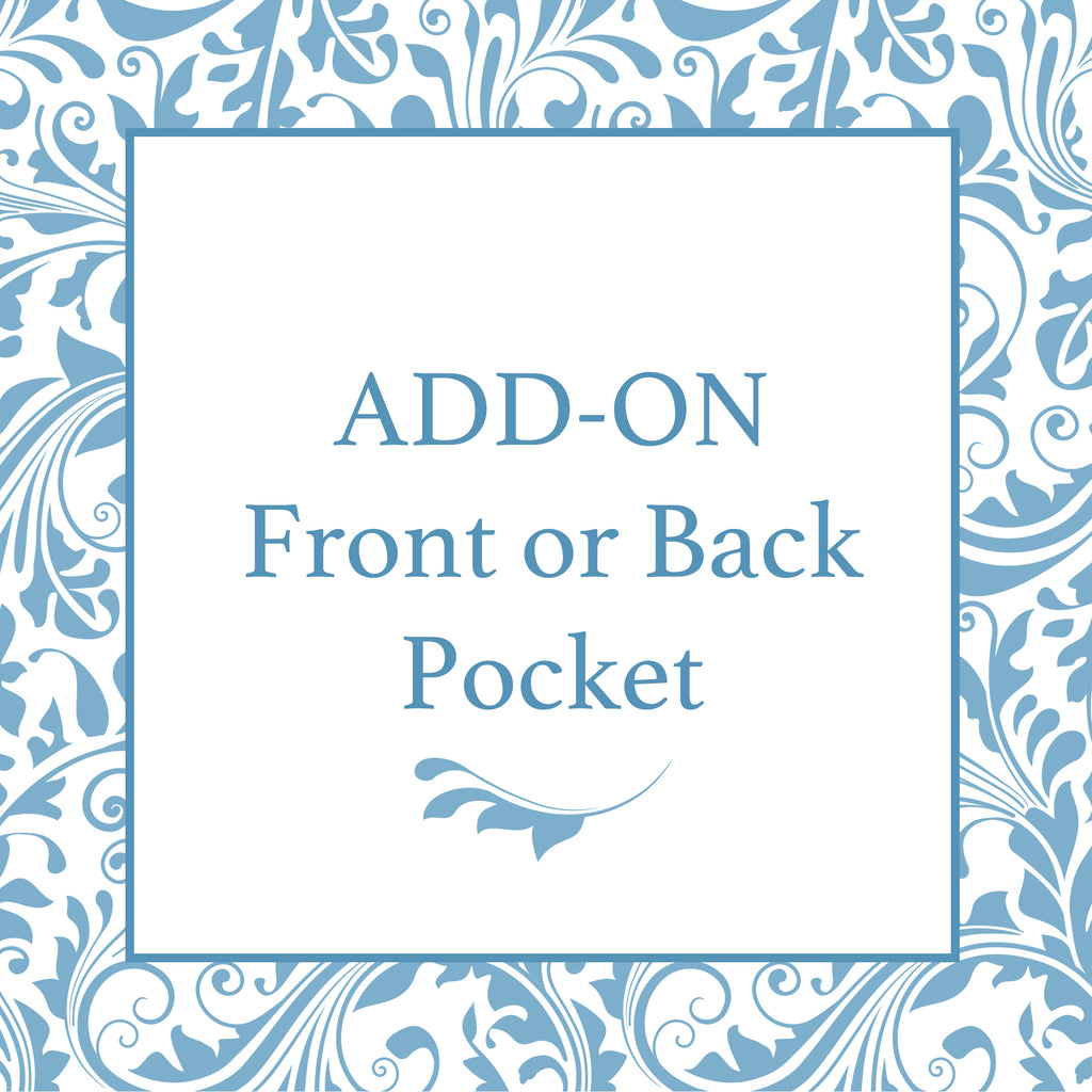 Add On- Front or Back Pocket