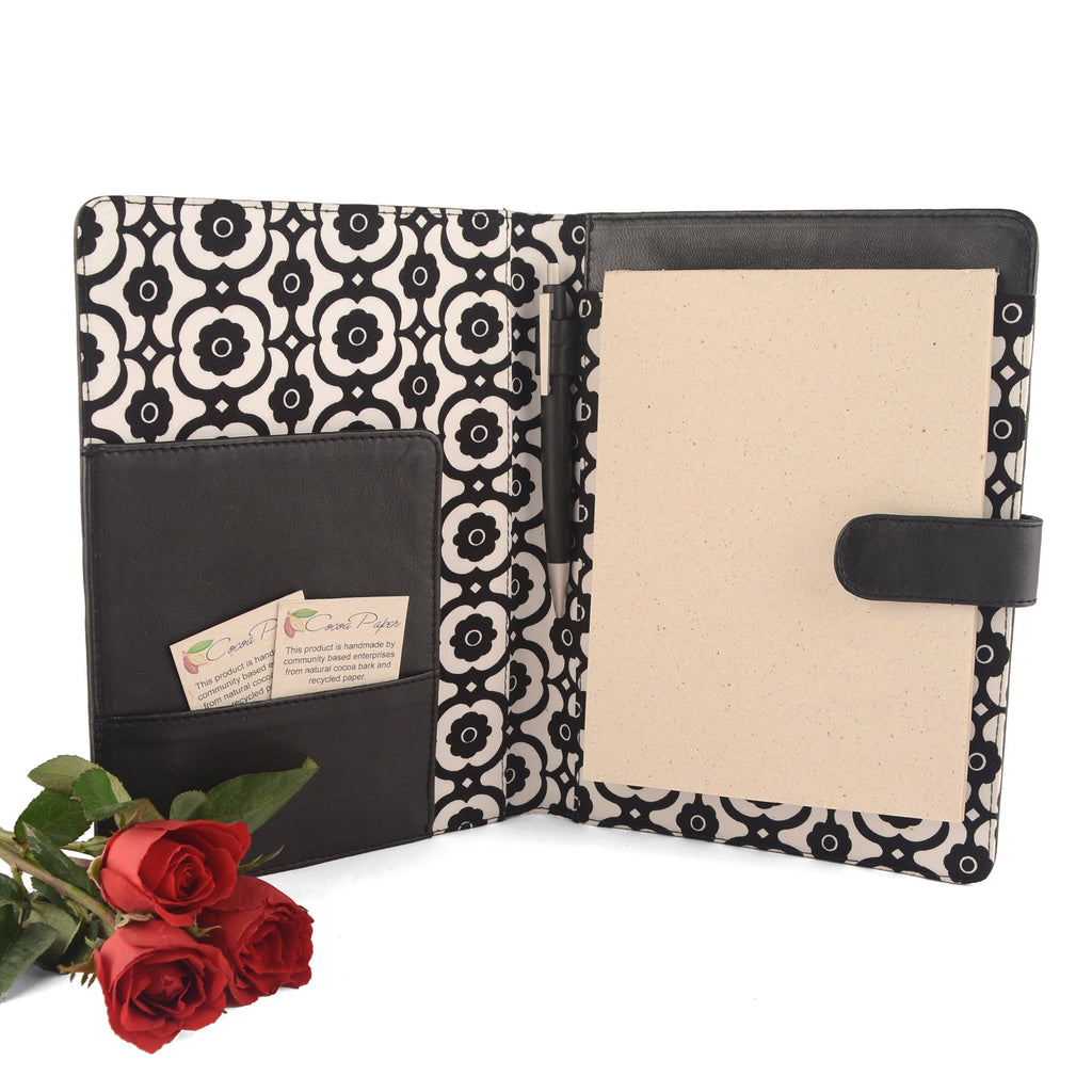 Black A5 Fabric Lined PadFolio, lots of other combinations available by CocoaPaper