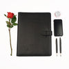 Black A4 Leather PadFolio by CocoaPaper