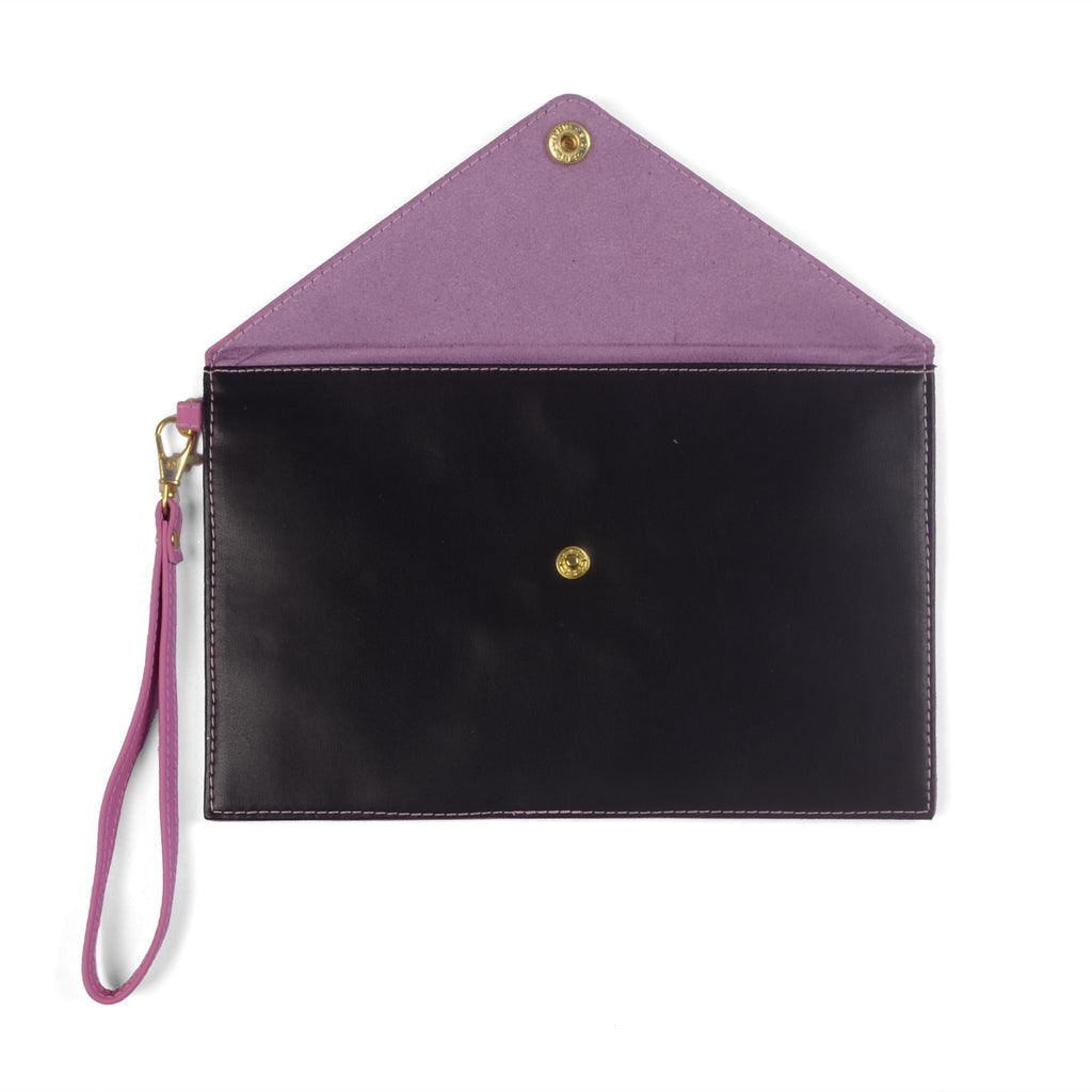 RUBY- Leather Organizer Clutch Bag