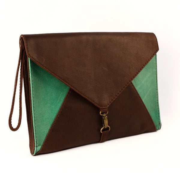 Envy Tablet or Clutch Bag- Emerald Green