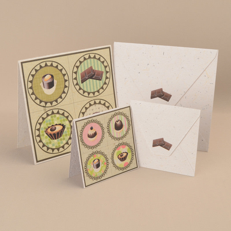 "Greeting Cards- 3"" x 3"" (Pack of 6)"