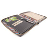 MAIDEN- A5 Leather Compendium, Fabric Lined