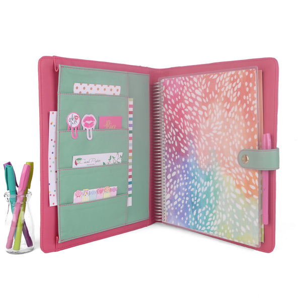 OPAL- Large Planner Cover for Coil Bound / Discbound Planners, Two Tone