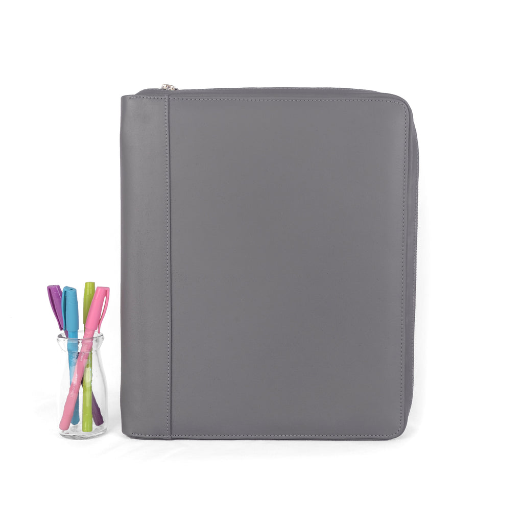 OPAL- Zippered Large Planner Cover for Coil Bound / Discbound Planners, Two Tone