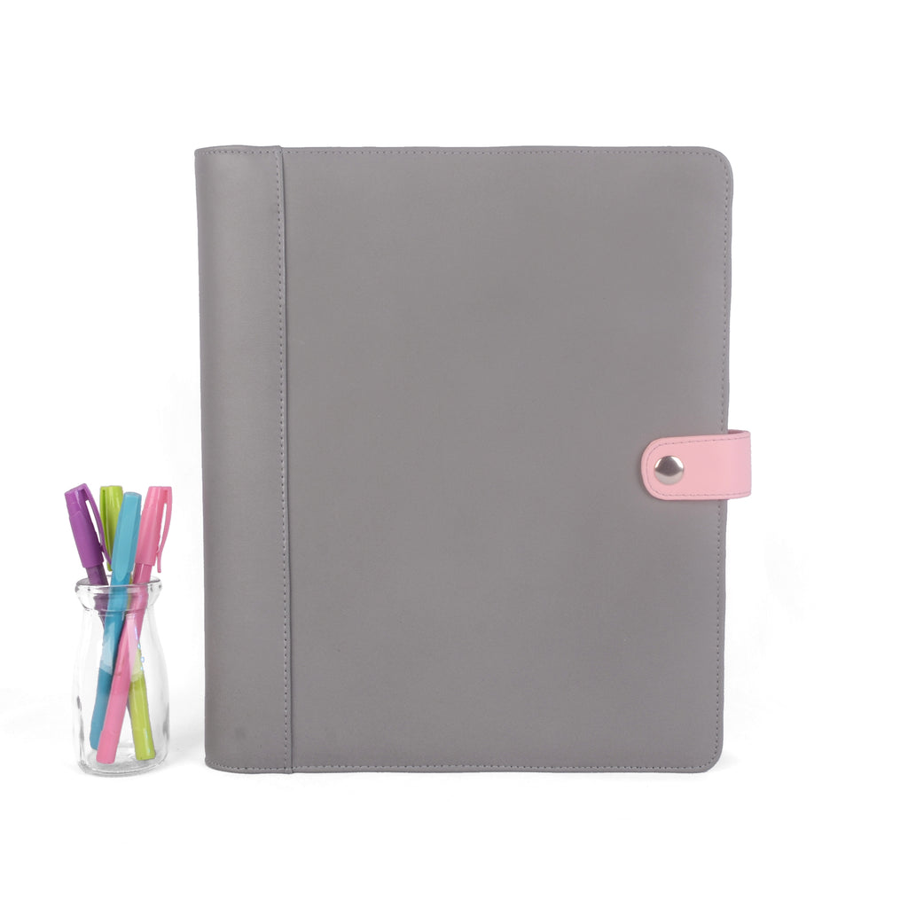 RUBY- Large Planner Cover for Coil Bound / Discbound Planners, Two Tone