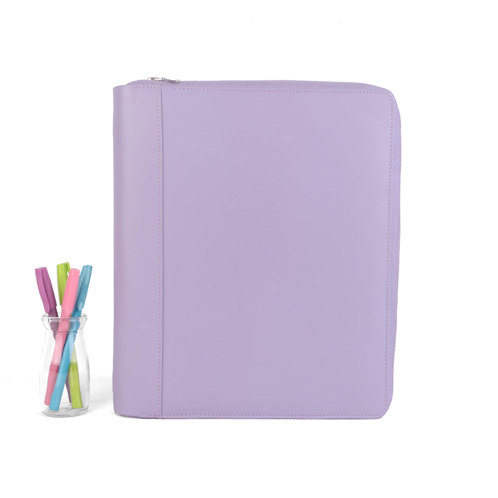OPAL- Zippered Large Planner Cover for Coil Bound / Discbound Planners