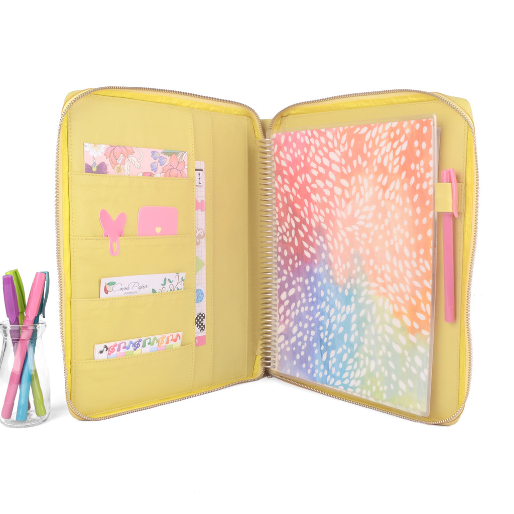 GEM- Zippered Large Planner Cover for Coil Bound / Discbound Planners