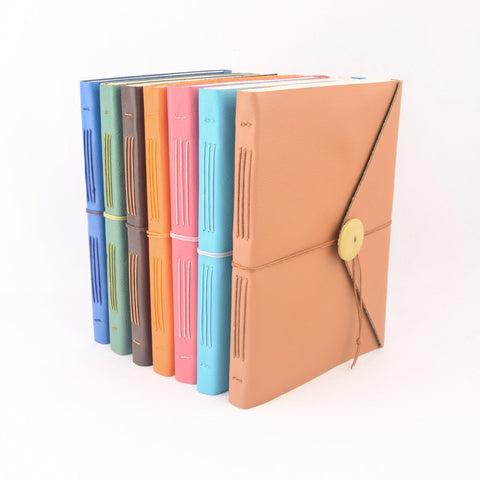 Leather Bound Wrap Around Journals- All Colors