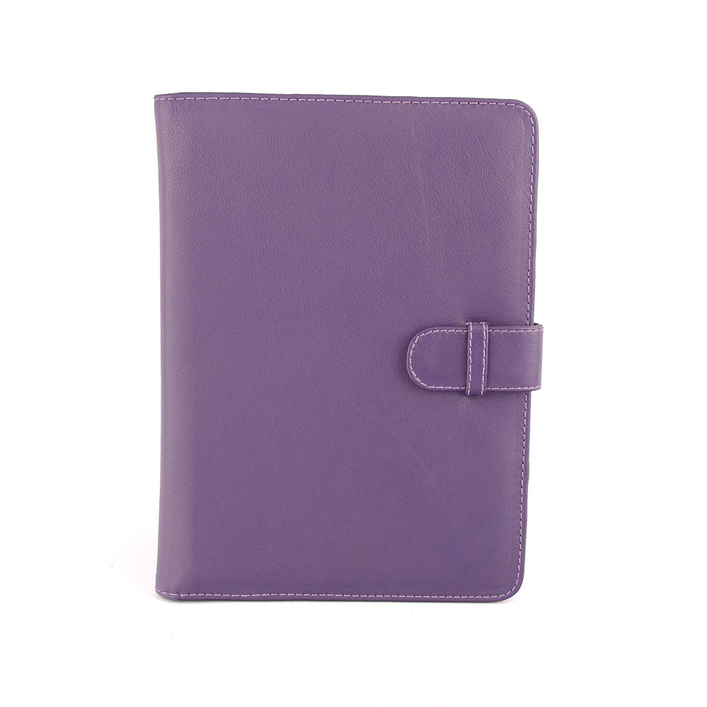 Purple A4 PadFolio lined with Peacock Fabric by CocoaPaper