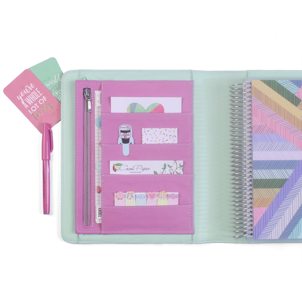 AVA- Planner Cover for Coil Bound / Discbound Planners, Two Tone