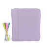 GRACE- Zippered Planner Cover for Coil Bound / Discbound Planners- Two Tone