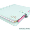 GRACE- Planner Cover for Coil Bound / Discbound Planners, Two Tone