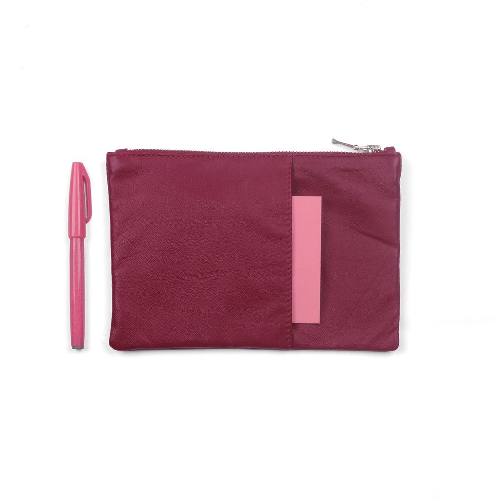 ROSE- Leather Planner Pouch / Accessory Organizer Pouch