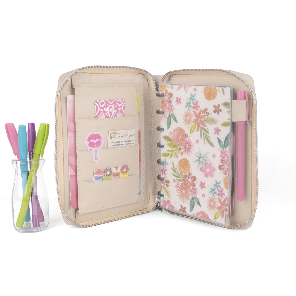 JANE- Zippered Mini Planner Cover for Coil Bound / Discbound Planners