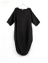 Load image into Gallery viewer, Scalloped Edge Dress - Black