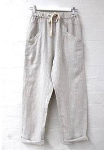 Luxe Linen Pants - Natural
