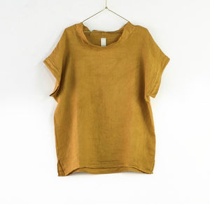 Cowl Neck Top - Mustard