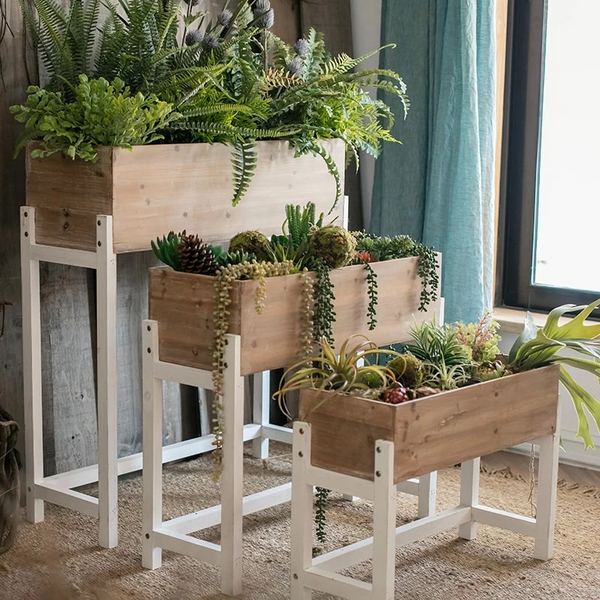 Elevated Wood Planter Box