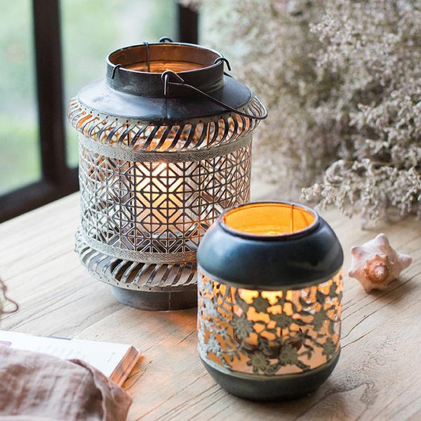 Metal Lantern Candle Holder