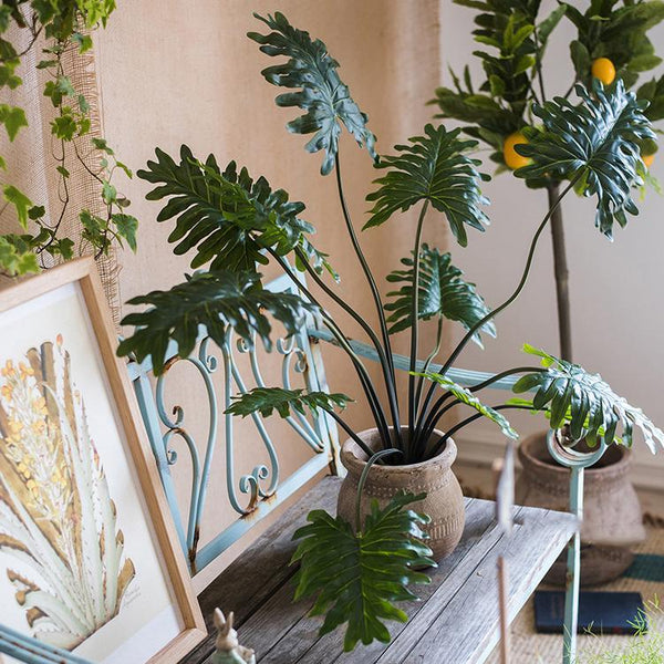 Potted Plant Artificial Philodendron Plant