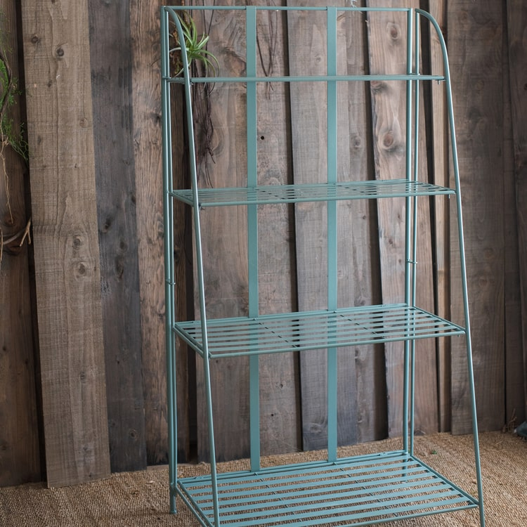 Green Farmhouse Metal Side Table