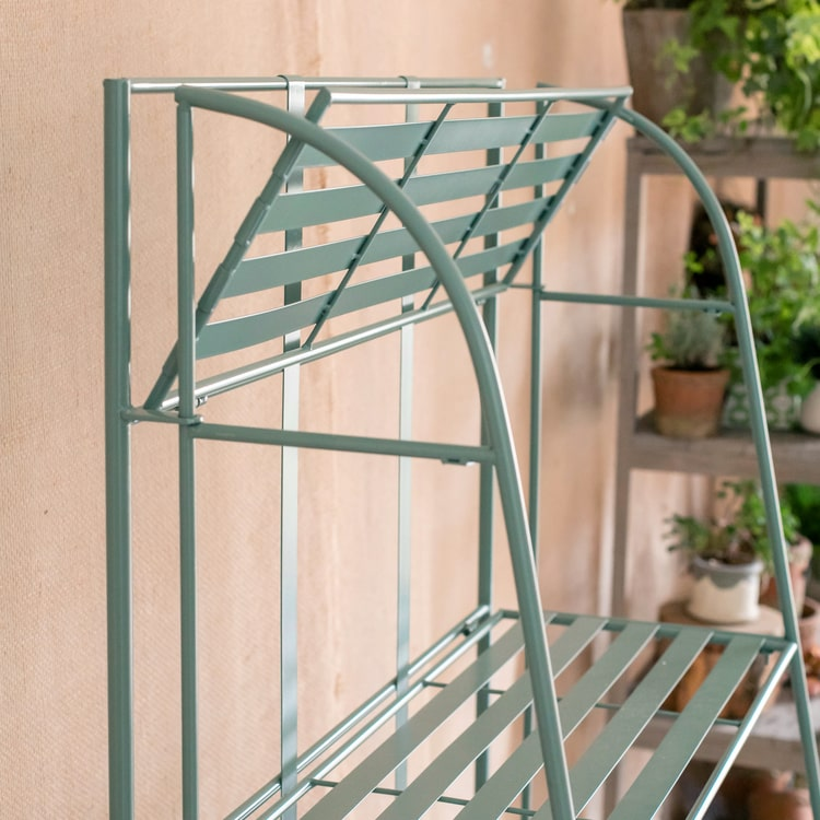 Four Tire Foldable Metal Shelf