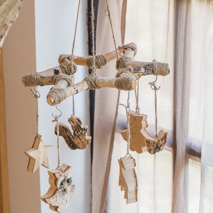 Birch Wood Craft Decorative Wind Chime Hanger