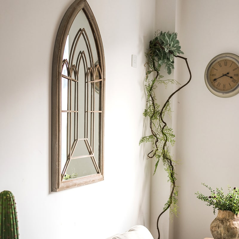Rustic French Art Mirror