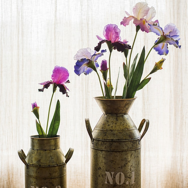 "Artificial Iris Flower Stem 31.5"" Tall"