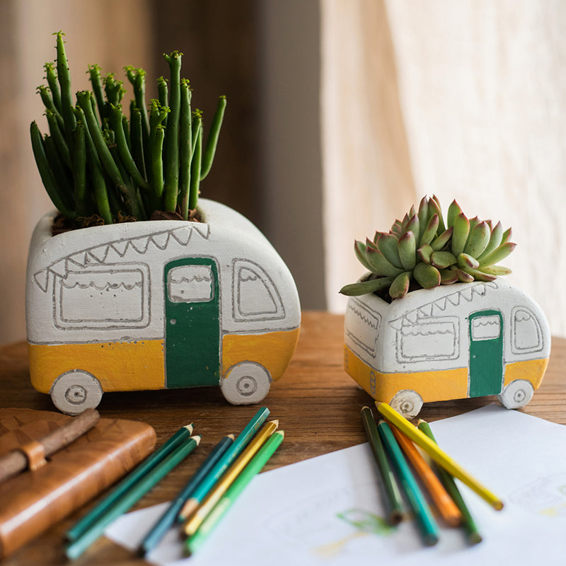 Kids Desktop Bus Planter