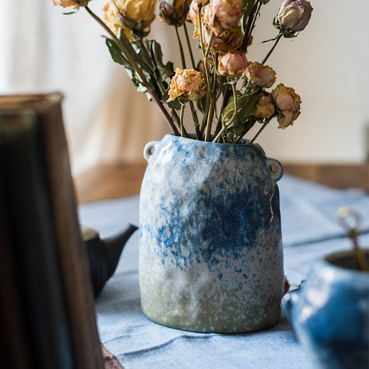 Kiln Glazed Blue Vase
