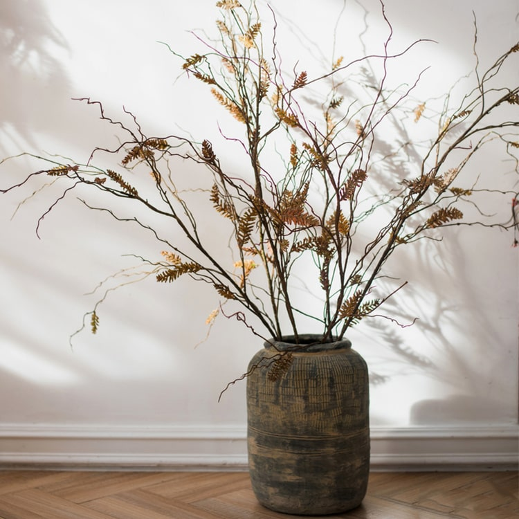 "Artificial Dried Ling Yu Grass Stem 47"" Tall"