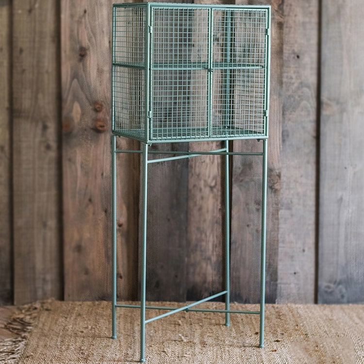 Metal Plant Stand Wire Cage Shelf